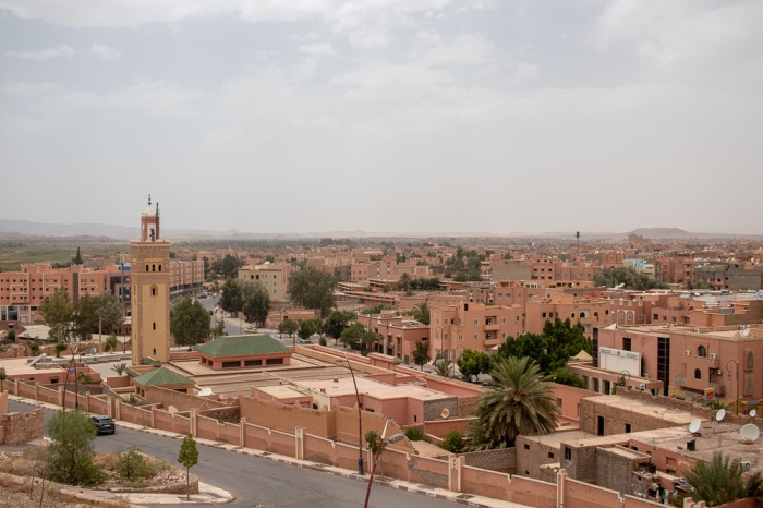 Vista panorâmica sobre a cidade de Ouarzazate
