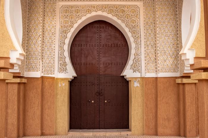 Porta da Mesquita Somalie em Ouarzazate