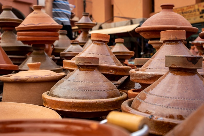 Conjunto de tagines marroquinas
