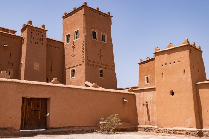 Exterior do Casbá Taourirt em Ouarzazate
