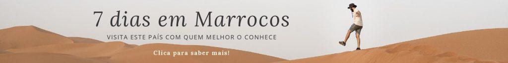Banner de viagem de grupo pelo sul Marrocos